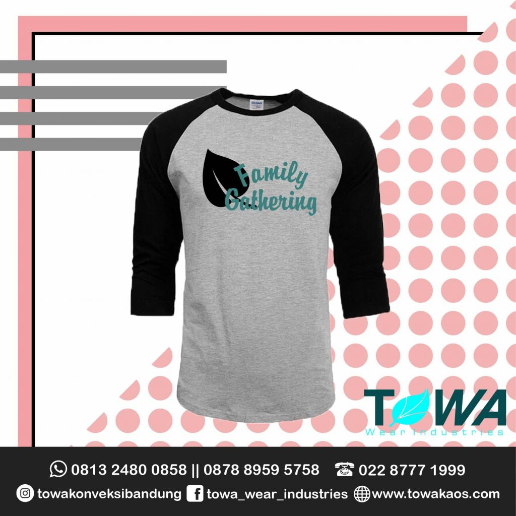 Baju Kaos Reglan Family Gathering Cotton Combed