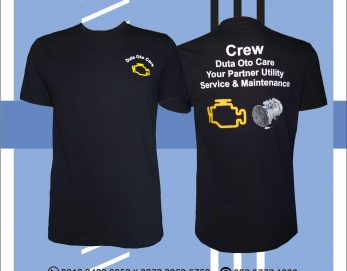 Baju Kaos Check Engine Bahan Cotton Combed Sablon Plastisol